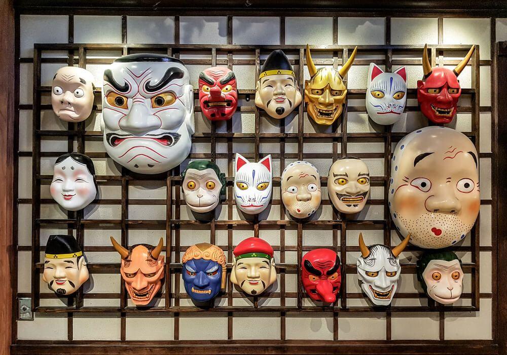Máscaras japonesas: Tipos y simbología