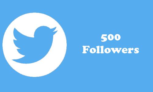 Comprar Followers 500 Seguidores Twitter