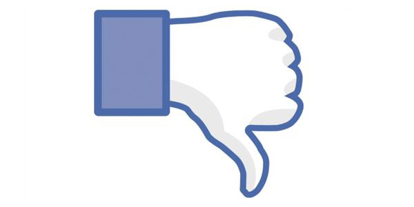 Facebook: No me gusta